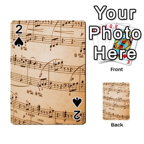 Music Notes Background Playing Cards 54 Designs