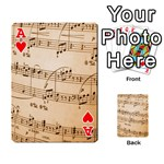 Music Notes Background Playing Cards 54 Designs  Front - HeartA