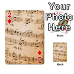 Music Notes Background Playing Cards 54 Designs  Front - Diamond2