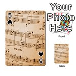 Music Notes Background Playing Cards 54 Designs  Front - Spade5