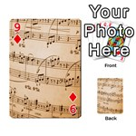 Music Notes Background Playing Cards 54 Designs  Front - Diamond9