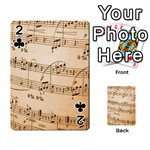 Music Notes Background Playing Cards 54 Designs  Front - Club2