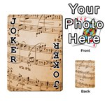 Music Notes Background Playing Cards 54 Designs  Front - Joker1