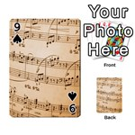 Music Notes Background Playing Cards 54 Designs  Front - Spade9
