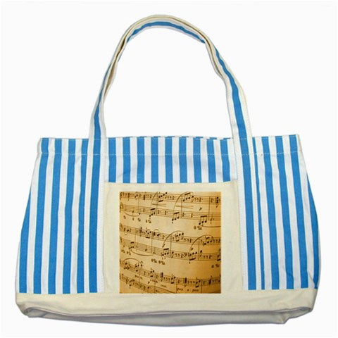Music Notes Background Striped Blue Tote Bag