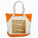 Music Notes Background Accent Tote Bag Front