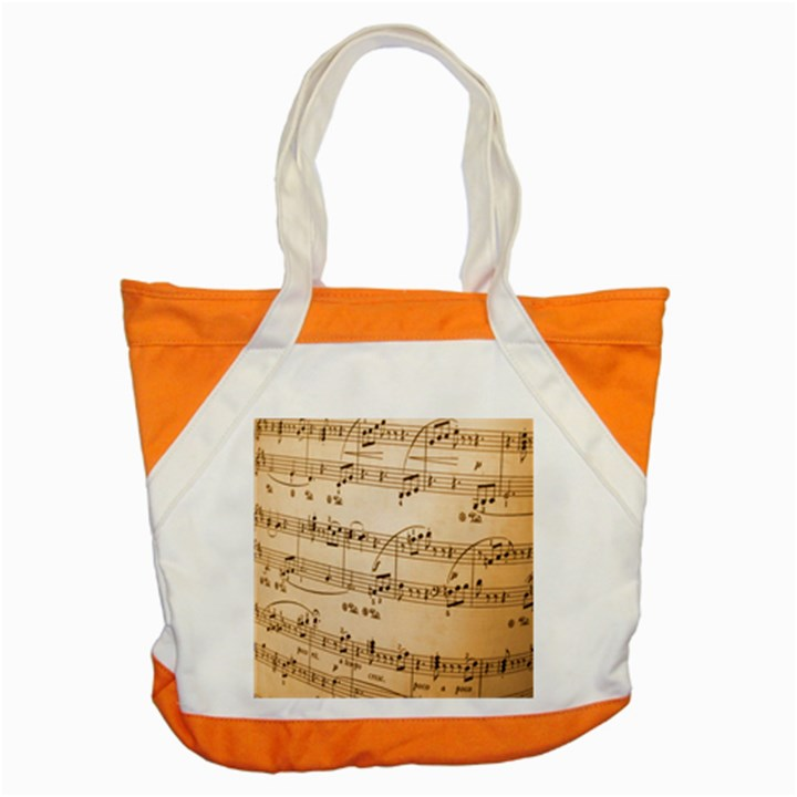 Music Notes Background Accent Tote Bag