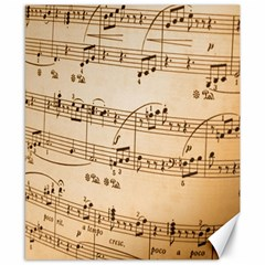 Music Notes Background Canvas 8  x 10