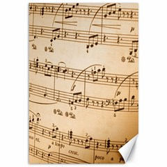 Music Notes Background Canvas 12  x 18