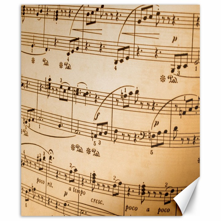 Music Notes Background Canvas 20  x 24