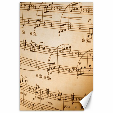 Music Notes Background Canvas 20  x 30