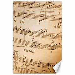 Music Notes Background Canvas 24  x 36