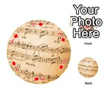 Music Notes Background Playing Cards 54 (Round)  Front - Diamond7