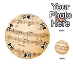 Music Notes Background Playing Cards 54 (Round)  Front - Club10