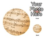 Music Notes Background Playing Cards 54 (Round)  Back