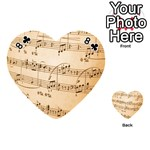 Music Notes Background Playing Cards 54 (Heart)  Front - Club8