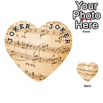 Music Notes Background Playing Cards 54 (Heart)  Front - Joker1