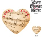 Music Notes Background Playing Cards 54 (Heart)  Front - Joker2