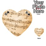 Music Notes Background Playing Cards 54 (Heart)  Front - Spade10