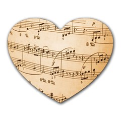 Music Notes Background Heart Mousepads