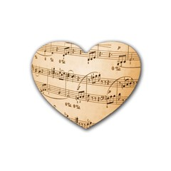 Music Notes Background Heart Coaster (4 pack)