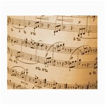 Music Notes Background Small Glasses Cloth (2-Side) Front