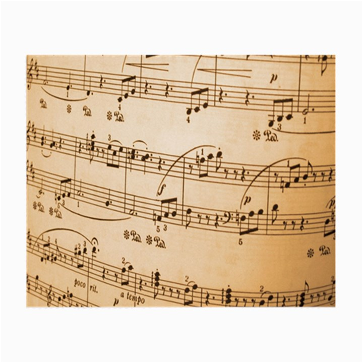 Music Notes Background Small Glasses Cloth (2-Side)