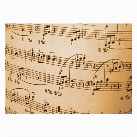 Music Notes Background Large Glasses Cloth
