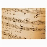 Music Notes Background Large Glasses Cloth Front