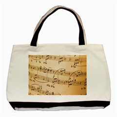 Music Notes Background Basic Tote Bag (Two Sides)