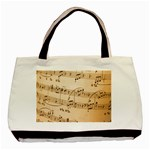 Music Notes Background Basic Tote Bag (Two Sides) Back