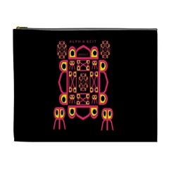 Alphabet Shirt Cosmetic Bag (xl)