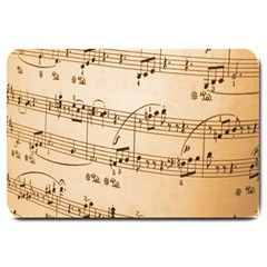 Music Notes Background Large Doormat