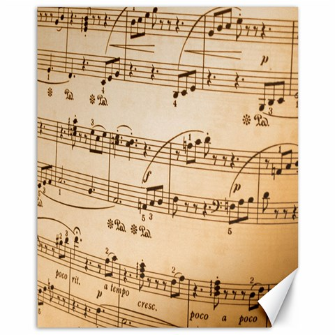 Music Notes Background Canvas 11  x 14