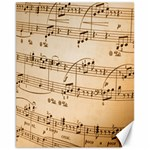 Music Notes Background Canvas 11  x 14   14 x11 Canvas - 1