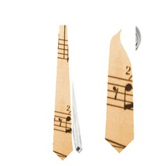 Music Notes Background Neckties (One Side)
