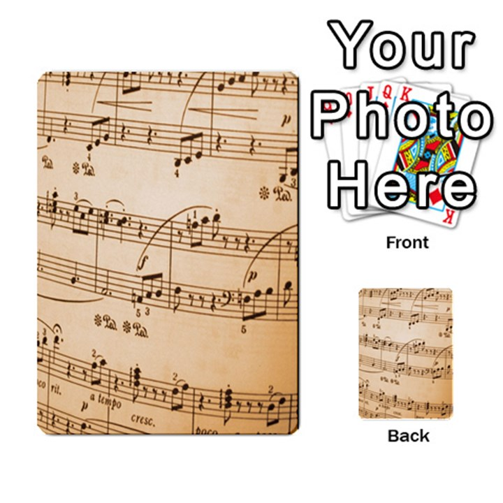 Music Notes Background Multi-purpose Cards (Rectangle)