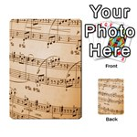 Music Notes Background Multi-purpose Cards (Rectangle)  Back 49