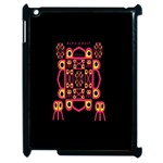 Alphabet Shirt Apple iPad 2 Case (Black) Front