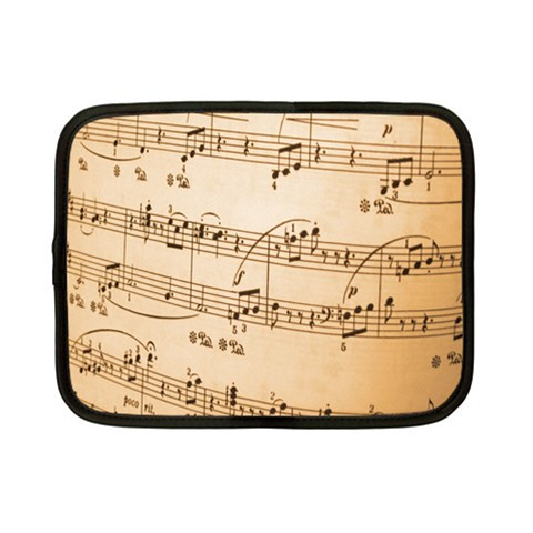 Music Notes Background Netbook Case (Small)