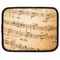 Music Notes Background Netbook Case (Large)