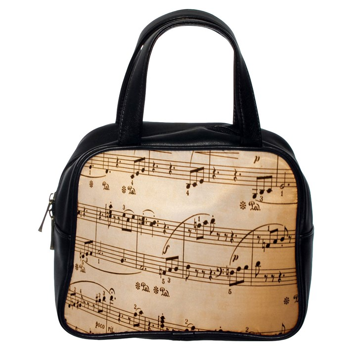 Music Notes Background Classic Handbags (One Side)