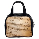 Music Notes Background Classic Handbags (2 Sides) Front