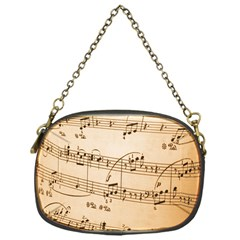 Music Notes Background Chain Purses (One Side)