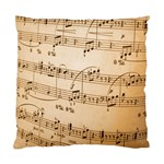 Music Notes Background Standard Cushion Case (Two Sides) Back
