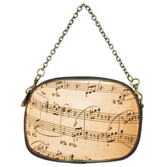 Music Notes Background Chain Purses (Two Sides)