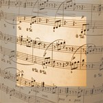 Music Notes Background Mini Canvas 4  x 4  4  x 4  x 0.875  Stretched Canvas