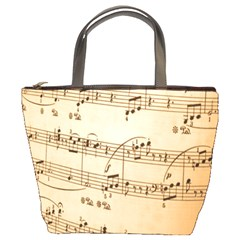 Music Notes Background Bucket Bags