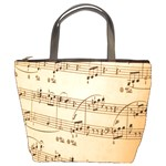Music Notes Background Bucket Bags Front