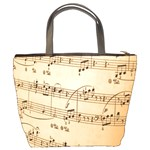 Music Notes Background Bucket Bags Back